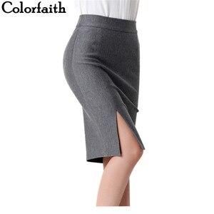 Image 1 - 2017 חדש נשים פורמליות עבודה ללבוש חצאיות גבירותיי סקסי גבוהה מותן מיני עיפרון חצאית 7 צבעים למתוח חבילה ירך SP5602