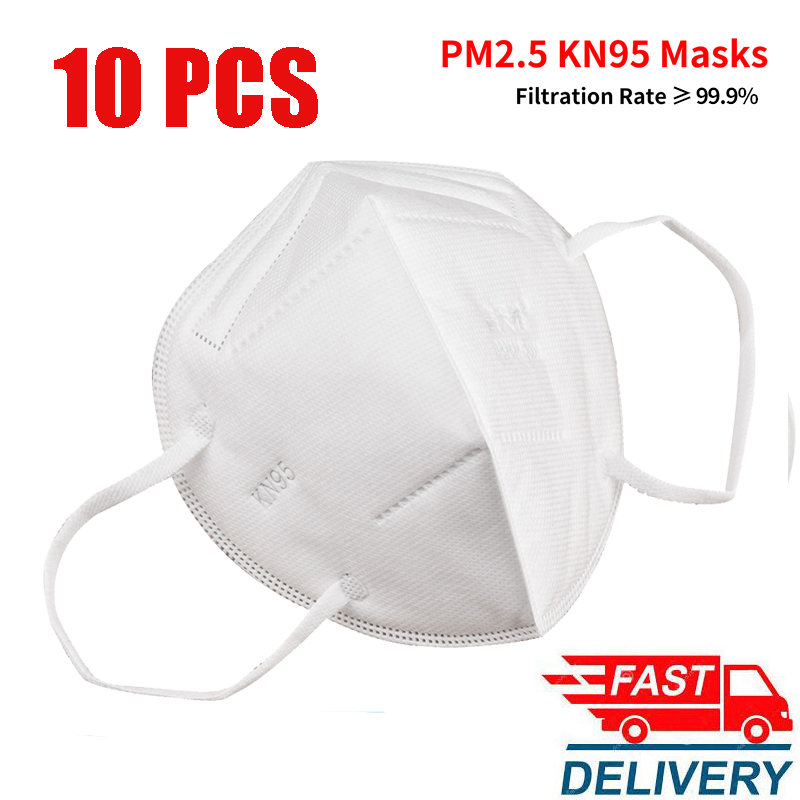 20pcs 4 Layers KN95 Dustproof Anti-fog And Breathable Face Mouth Masks 95% Filtration N95 FFP2 Masks Against Droplets Respirator