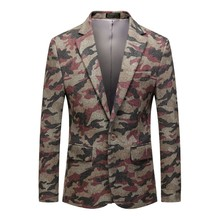 Mens Casual Vintage Turn-down Collar Long Sleeve Print Floral Suit Coat Jacket americanas para hombre 2019 W902