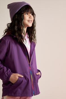 DeFacto wiosenna dziewczyna odzież wierzchnia dziewczyny płaszcz przeciwdeszczowy z kapturem odzież wierzchnia ciepłe Fashion-S5863A621SP tanie i dobre opinie