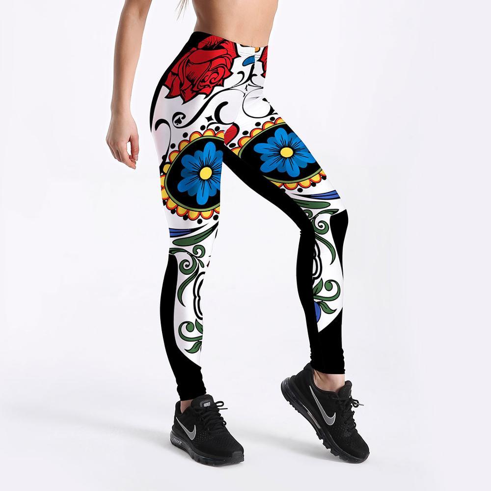 High Waist Women Fitness Workout Sportswear Fashion Leggings New Pattern Digital Printing Push Up Women Elastic Force Legging