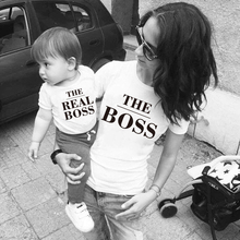 Matching Outfits Tshirt BOSS Daughter Mommy Baby-Girl Me And THE White Black Cotton