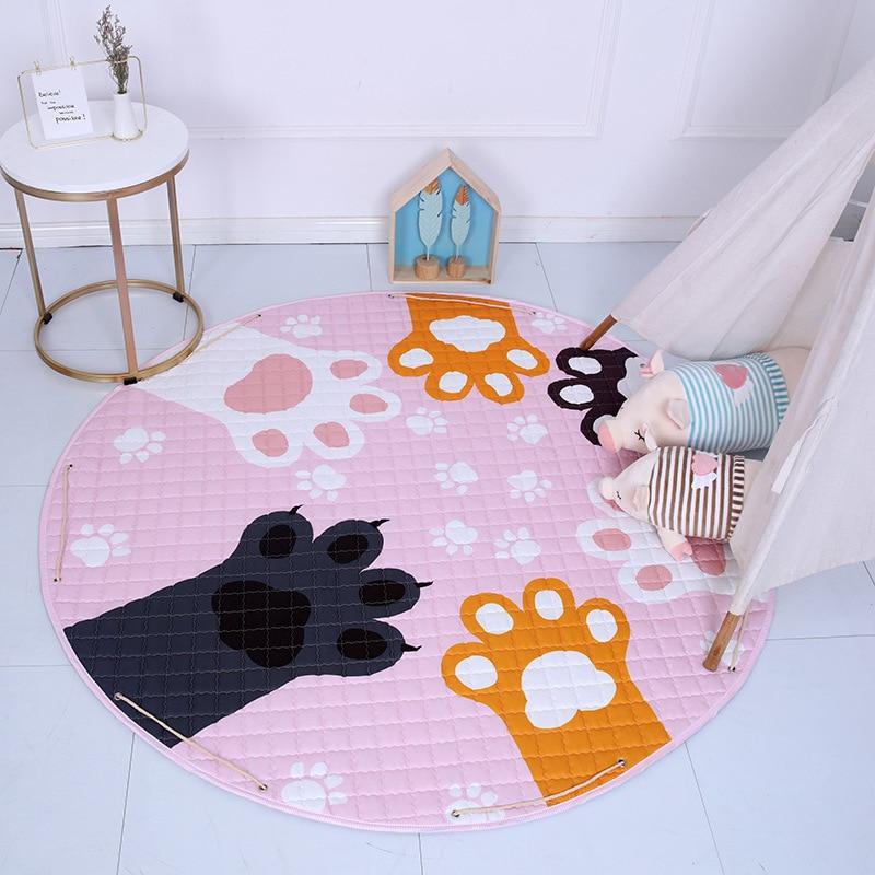 Hb15c229028904fcdbe45c826dc5d4047l Kid Soft Carpet Rugs Cartoon Animals Fox Baby Play Mats Child Crawling Blanket Carpet Toys Storage Bag Kids Room Decoration