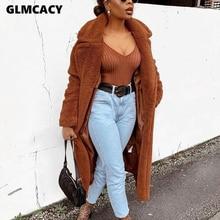 Abrigo largo tejido para mujer Otoño Invierno elegante Streetwear elegante mullido cálido suave prendas de vestir ropa de trabajo elegante