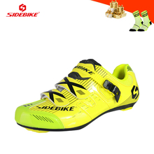 SIDEBIKE road cycling sneakers men women self-locking breathable bicycle riding shoes outdoor ultra-light road racing bike shoes