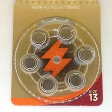 Baterias do Aparelho Auditivo Ar Zinco PÇS/LOTE 6 13A A13 13A 13 P13 PR48 A13 Bateria para Aparelhos Auditivos