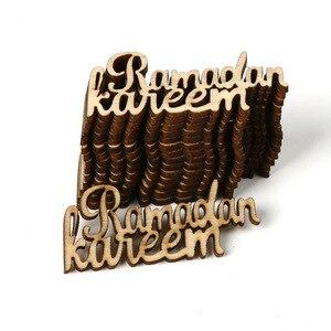 Image 4 - Ensemble de scène en bois deid Mubarak, accessoires de décoration pour la maison, cadeaux de décoration de lalphabet musulman, 15 pièces/ensemble