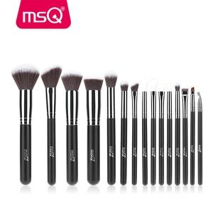 Image 4 - Msq メイクブラシセットファンデーションアイライナーアイシャドウ彫刻ブラシブレンド 35 個 32 個 27 個ブラシ合成髪