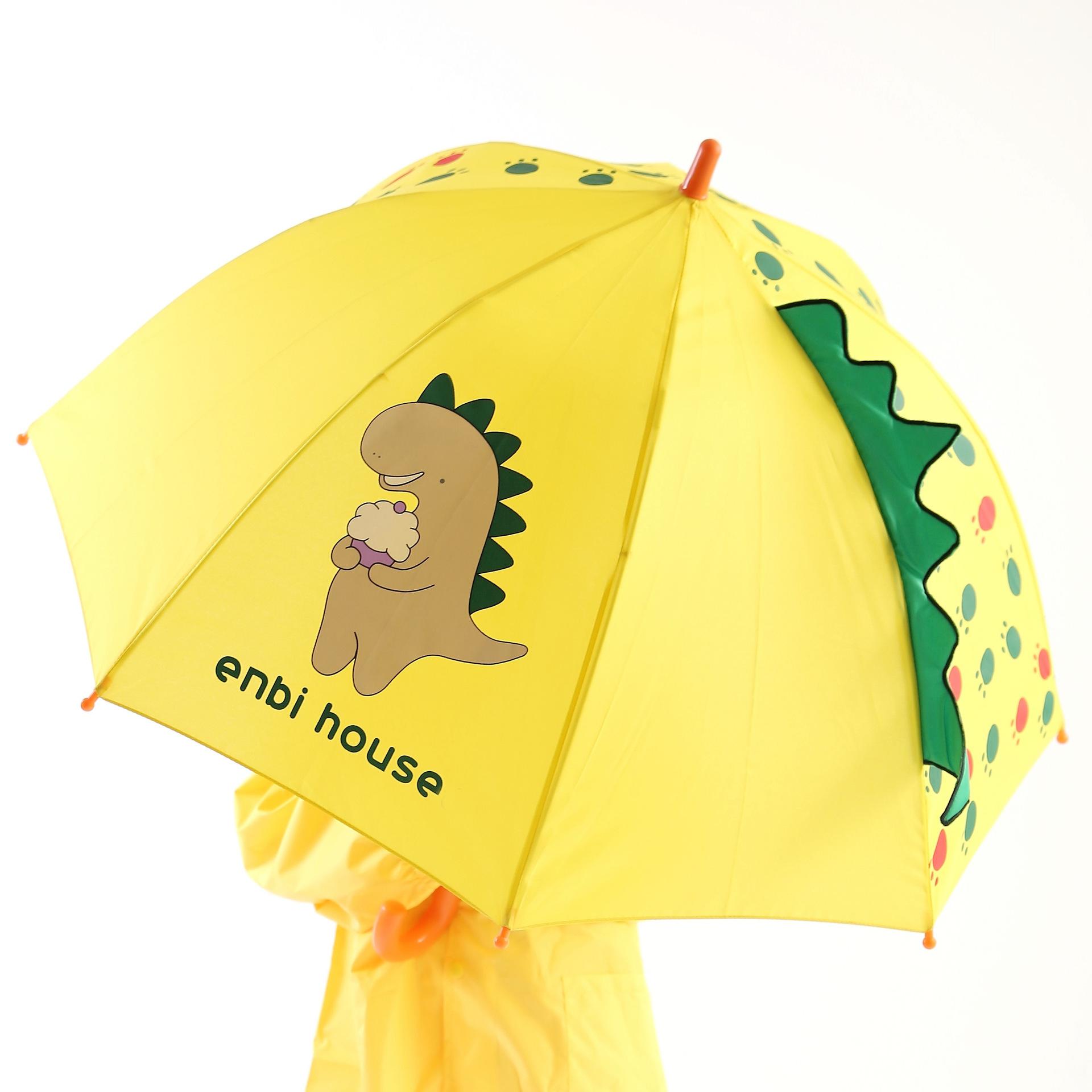 Cross Border for enbihouse Dinosaur CHILDREN'S Umbrella All-Weather Umbrella 3D Modeling Origional
