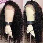 Прозрачные кружевные парики бразильские волнистые волосы на кружеве 13*4 кружевные передние человеческие волосы парики предварительно выщи... - 2