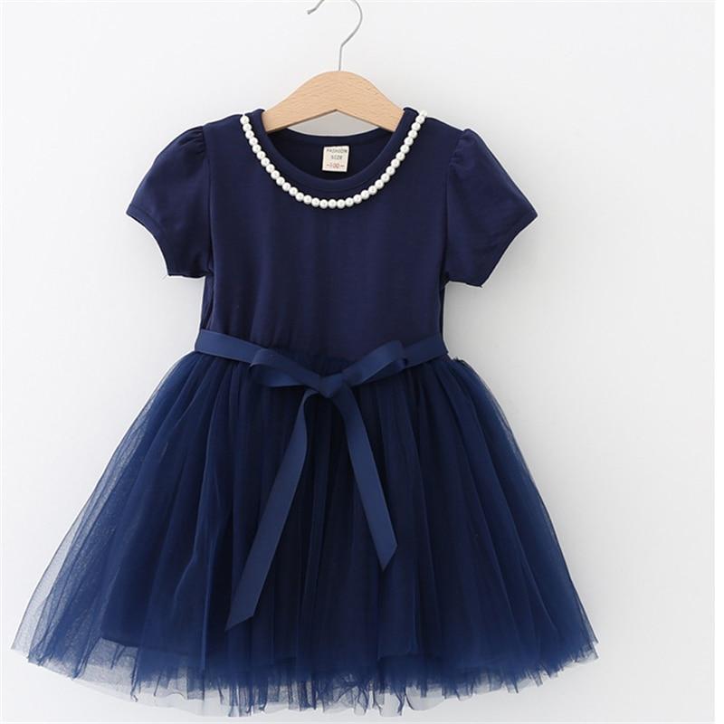 Summer Kids Dresses For Girls short Sleeve Children Clothing Tutu Girls Casual School Wear Princess Party Dress 2020 New 25 1