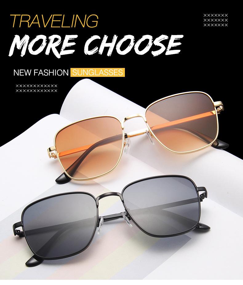 Женские солнцезащитные очки в винтажном стиле с квадратной металлической
