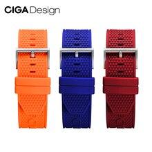 Ciga Ontwerp Mannen Siliconen Horloge Band 22Mm Horloge Band Accessoires Multicolor Horlogebanden Vervanging Armband Ciga Horloge Serie Z