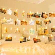 Twinkly Clip Photo LED String Lights USB Garland Lamp Valentines Fairy Lights Indoor Decoration Chrismas Lamp Chain Living Room