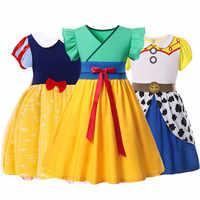 Vestidos de princesa china HuaMualan para niñas pequeñas de 2 a 6 años, juego de rol, Jessie, Blancanieves, Bella, Anna, vestidos de fiesta