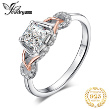 JewelPalace Infinity Celtic Knot Engagement Ring Rose Gold 925 Sterling Silver Rings for Women Wedding Jewelry