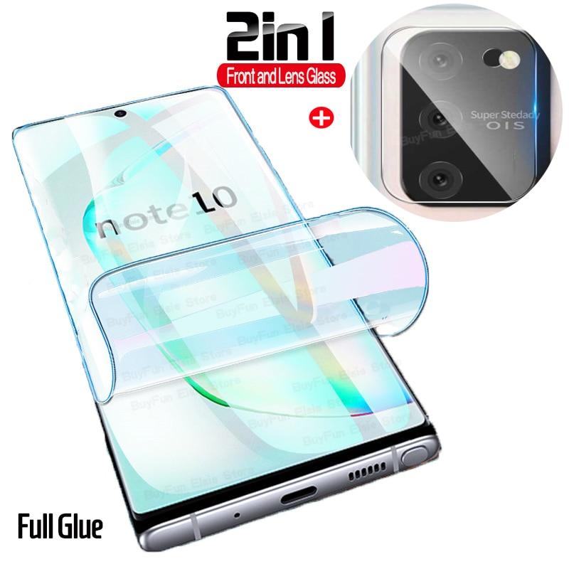 2 в 1, Гидрогелевая пленка для Samsung Galaxy S10 Lite, наклейка, Гидрогелевая Защитная пленка для экрана Galaxy S 10 Note 10 Lite, легкая пленка, не стекло