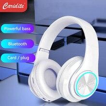 Caridite-auriculares inalámbricos con Bluetooth para niñas, audífonos coloridos con Bluetooth 5,0, bonitos, populares, regalo