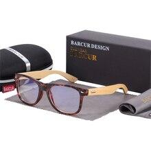 BARCUR Bamboo Anti Blue Ray Glasses Optical Eye UV Blocking Gaming Filter Eyewear