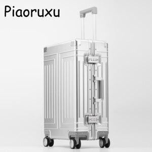Image 5 - Maleta con varilla de tracción de aleación de aluminio 100%, equipaje de metal de 20 pulgadas, a la moda, nuevo tipo de maleta, caja de varilla de tracción para equipaje