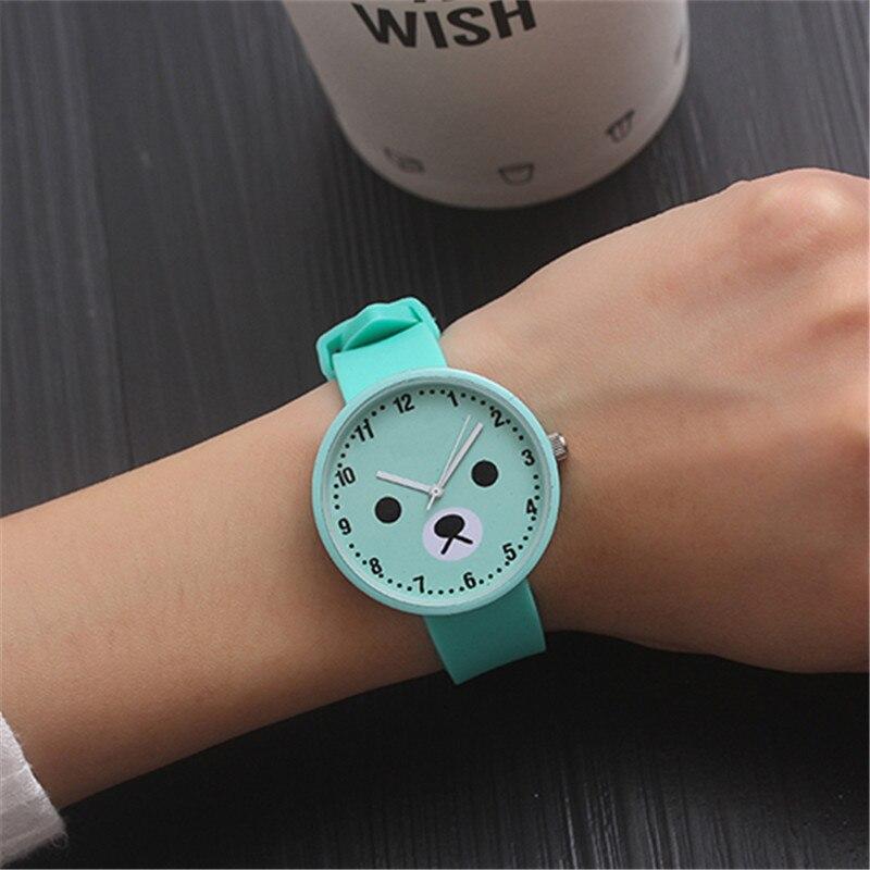 For School Student Wrist Watches For Young Boy Girl Quartz Clock  Waterproof Kids Hour Cool Bear Children's Watch Cartoon XX3075