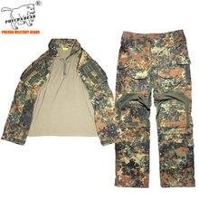 Germany flecktarn camouflage Gen3 tactical combat uniform airsoft BDU battle dress uniform summer military training uniform men