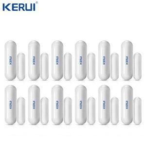 Image 1 - Оптовая продажа, 12 шт., беспроводной датчик D026 Kerui для двери, окна, зазора, анти темпер для Wi Fi, GSM сигнализации, аксессуары для сигнализации, нелегальный рычаг