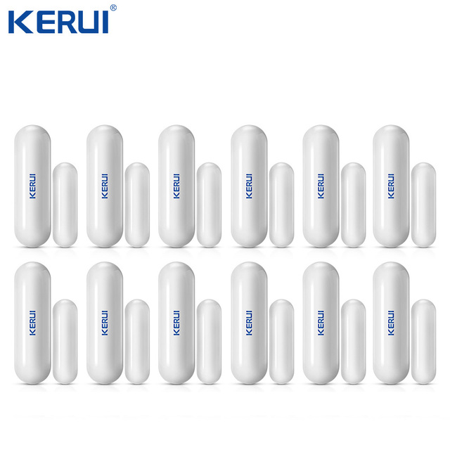 Оптовая продажа, 12 шт., беспроводной датчик D026 Kerui для двери, окна, зазора, анти темпер для Wi Fi, GSM сигнализации, аксессуары для сигнализации, нелегальный рычаг