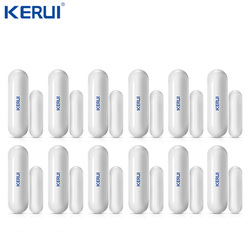 Wholesales 12pcs D026 Kerui Wireless Door window Gap Sensor Anti-tamper For Wifi GSM Alarm System Alarm Accessory Illegal Arm