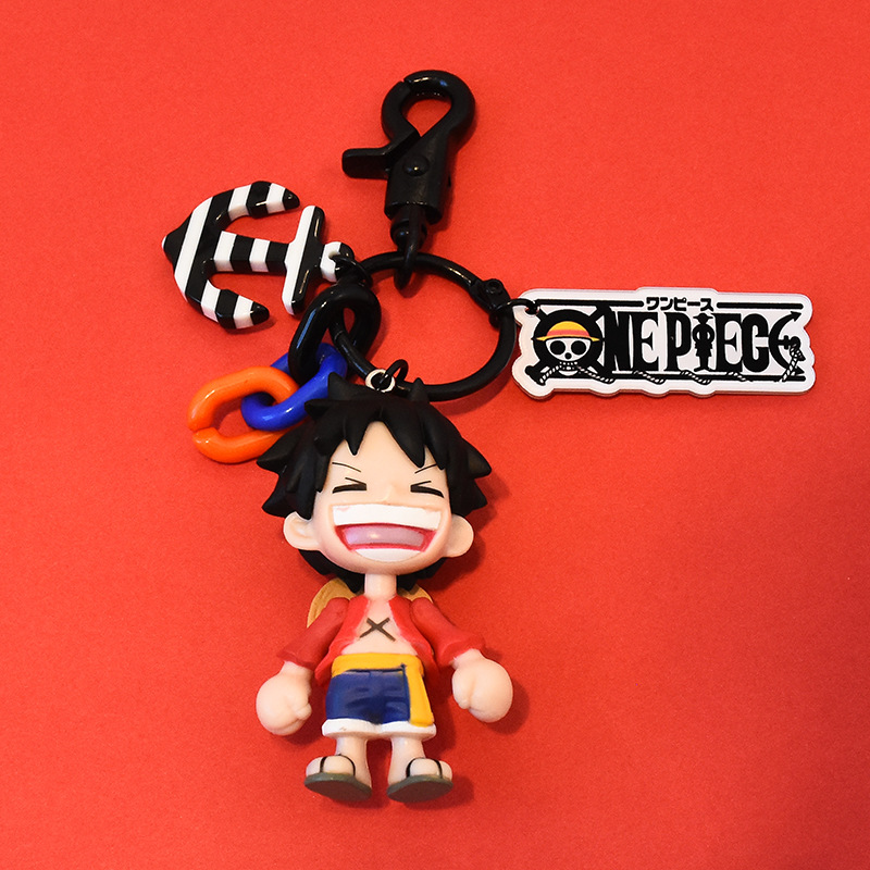 One Piece Luffy Car Key Ring Men And Women Cartoon Gift Cool Key Chain Doll Garage Kit Handbag Pendant|Key Case for Car| |  - title=