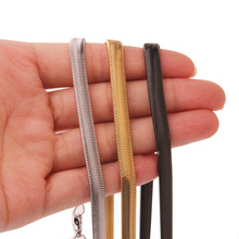 New arrival Stainless steel 6MM Flat snake chain necklace Fashion Womens mens jewelry Length 24 inches Christmas gifts