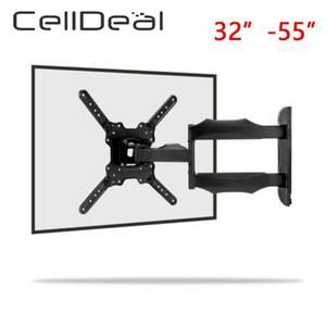 Soporte de montaje de TV Universal ajustable de 31KG, marco de TV de Panel plano para pared, soporte de inclinación de 13 grados con gradiente para LCD de 32 - 55 pulgadas