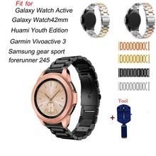 20mm Stainless Steel Watch Band For Samsung Galaxy 42mm Strap For Samsung Gear S2 smart watch Link bracelet with Adjust Tool the link adjustment tool for stainless steel strap simple easy operation dismounting tool