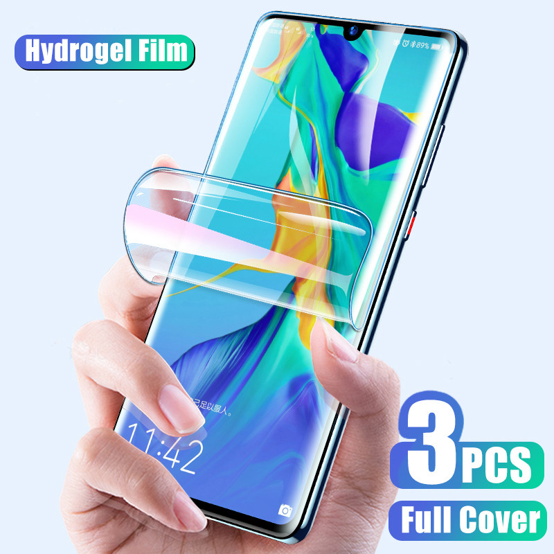 3-1PCS Screen Protector Hydrogel Film For Huawei P20 P30 Pro P40 Lite Protective Film For Huawei P Smart 2019 Film Not Glass