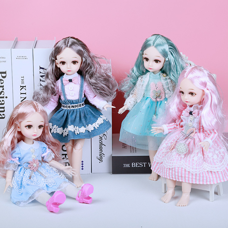 31cm 1/6 BJD Doll Movable Joint 3D Eyes Girl Makeup Dress Up DIY Dolls Toy Gift Princess Doll With Clothes