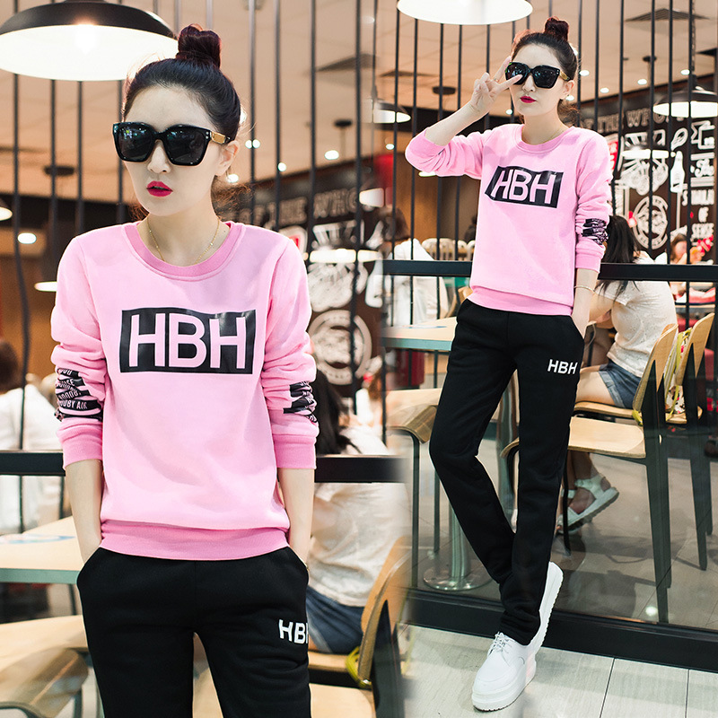 2019 Autumn Clothing New Style Fashion Set WOMEN'S Two-piece Suit Sports Set Women's Spring And Autumn Jogging Suits Casual Fash