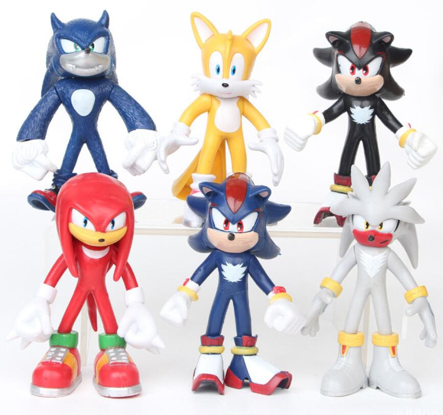 Super Sonic Action Figure Knuffel Amy The Hedgehog Tails Metal Sonic Figure Plastic Model Kids Birthday Cake Figurine Model Toys Action Toy Figures Aliexpress