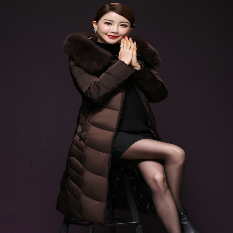 Winter Coat Female 90% Duck Down Jacket Women Clothes 2019 Korean Thick Ladies Long Jackets + Fox Fur Hooded Hiver YS8712