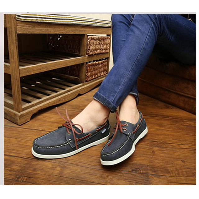 $ US $30.15 Men Loafers Shoes Genuine Leather Casual Sneakers Male Fashion  Boat Footwear Soft Dress Party Shoes Men Designer men's shoes