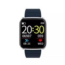 Moda yeni 1.3 inç geniş görüş kalp hızı kan basıncı monitörü çok spor modları akıllı saat için erkekler kadınlar gençler 116 Pro