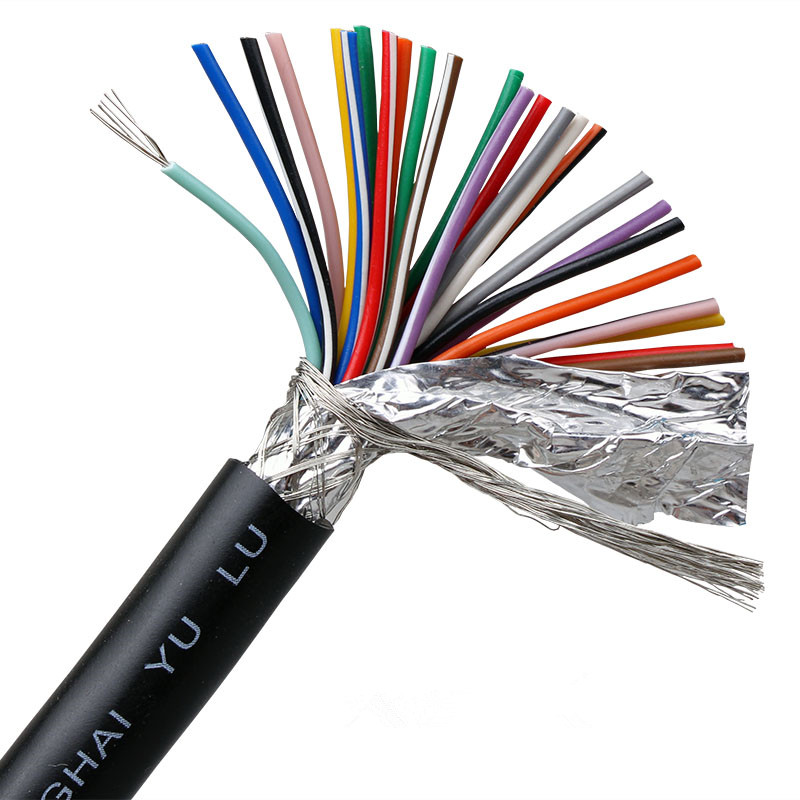1 Meter 24AWG 25Core Shielded Cable Pure Copper Signal Cable DB25 Connector Cables Black Gray
