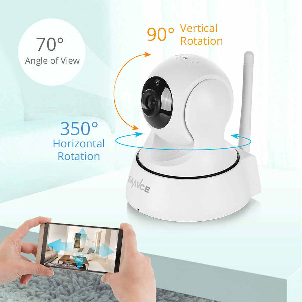 Sannce Home Security Ip Camera Wifi Draadloze Mini Netwerk Camera Surveillance Wifi 1080P Nachtzicht Cctv Camera Babyfoon