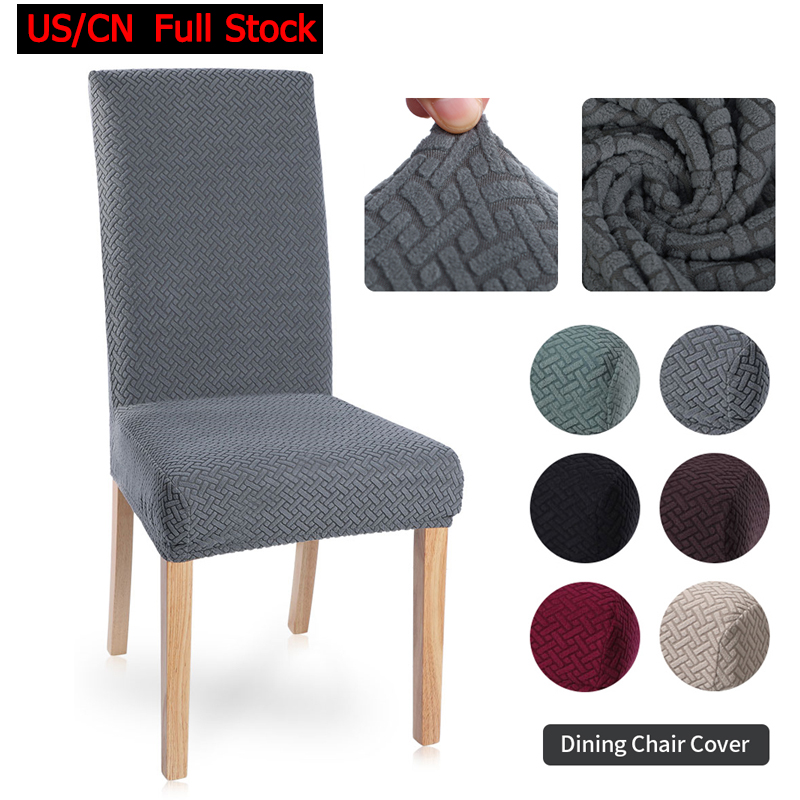 1/2/4/6Pcs Solid Color Chair Cover Spandex Stretch Elastic Slipcovers Chair Covers For Dining Room Kitchen Hotel Banquet Wedding