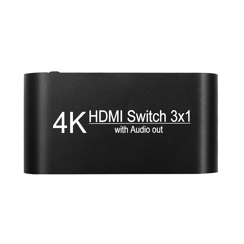 HDMI Switch 3 Port To Hdmi/toslink/3.5mm 4K*2K Switcher Splitter Support 2CH PCM, 5.1CH Dolby Digital For HD Players/DVD/XBOX360