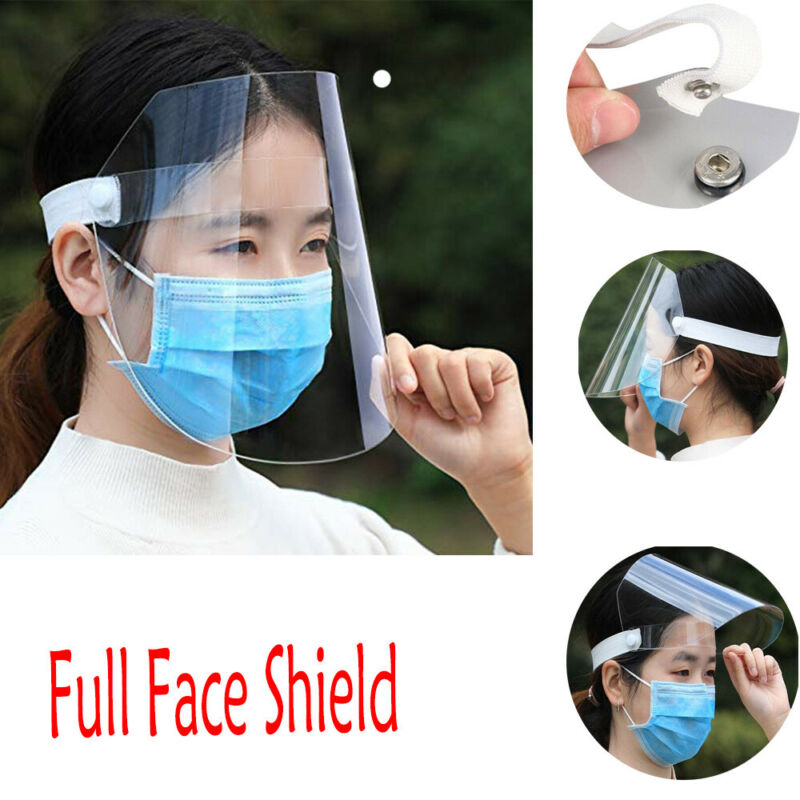 Brand New 1pc Anti-fog Anti-Virus Adjustable Full Face Shield Clear Flip-Up Visor Industry Medical Work Guard
