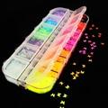 Fluoreszenz Schmetterling Herz Obst Verschiedene Formen Nail art Glitter Flakes 3D bunte Pailletten Polnischen Maniküre Nagel Dekoration