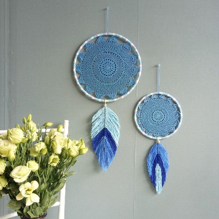 Один кусок ручной работы Ловец снов лист вязать стены украшения домашний декор - 2
