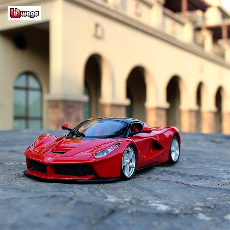 Bburago 1:24 Ferrari La Ferrari Car Model Die-casting Metal Model Children Toy Boyfriend Gift Simulated Alloy Car Collection