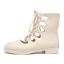 BWB Brand Boots Women Summer Med Heels Shoes Female Square Toe Knee High Ladies New boots women platform