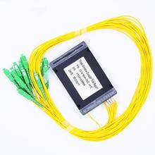 SC APC 1x8 PLC Fiber optical splitter single mode with connector FTTH